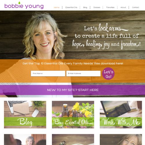 Bobbie Young Wordpress Web Design